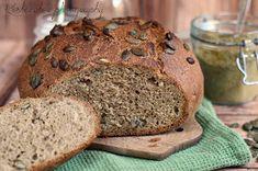 Koskacukor: Tökmagos-tökmaglisztes cipó Bread, Food, Brot, Essen, Baking, Meals, Breads, Buns, Yemek