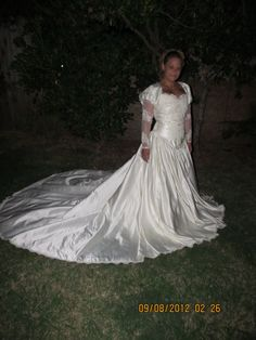 Gorgeous Vintage Wedding Gown Beaded Applique by SoVeryCheri, $265.00