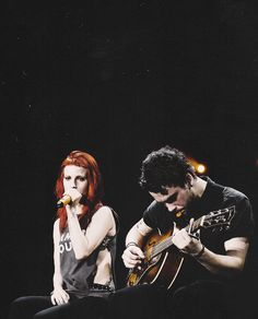 Hayley Williams and Taylor York of Paramore