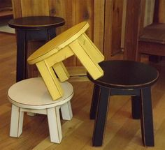 Great stool for pantry. Custom order/ Reclaimed wood/ Primitive/ by EastabrooksTreeWorks, $45.00