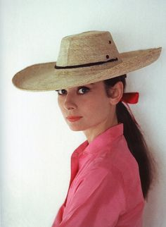 Hats loved Audrey (wide-brimmed straw hat)  photograph by Howell Conant