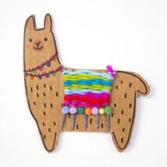 ideas for kids summer diy projects Adorable Woven Cardboard Llamas Crafts For Kids To Make, Fun Crafts, Kids Arts And Crafts, Etsy Crafts, Summer Crafts, Easter Crafts, Summer Fun, Weaving For Kids, Weaving Projects