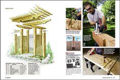 Garden Gate Arbor | DIY Project Plan