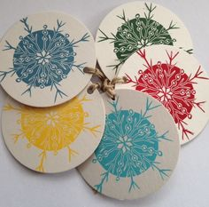 snowflake lino cut wrapping paper - Google Search