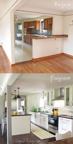 Kitchen Makeover 100 Small Kitchen Renovations Before and After - Small Kitchen Renovations – Remember that the kitchen is one of the most important section of the house. You had to have a well plan for renovations Home Kitchens, Home Remodeling, Home, Kitchen Living, Kitchen Design, Kitchen Remodel, Kitchen Renovation, Small Kitchen Renovations, Home Decor