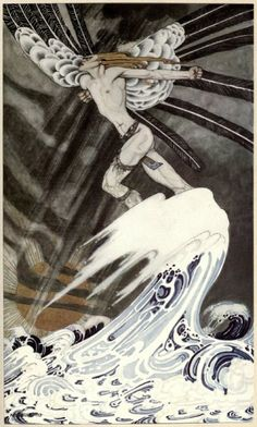 Kay Nielsen's Stunning 1914 Scandinavian Fairy Tale Illustrations – Brain Pickings ~The North wind went over the sea~