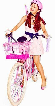 I just love her bike