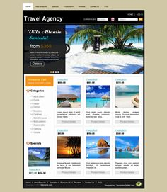 Free tour planner psd web template