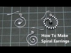 ► How To Make Beaded Spiral Earrings - Craft Tutorial 11 (Burton Snake Things)