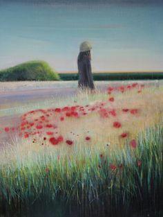 "Saatchi Online Artist Thomas Lamb; Painting, ""Amongst Poppies "" #art"