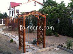 Pergola din lemn cu arcada x Arch, Outdoor Structures, Garden, Outdoor Decor, Home Decor, Longbow, Garten, Decoration Home, Room Decor
