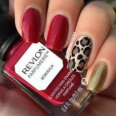 Rojo y dorado