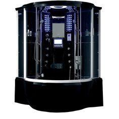 Florence Acrylic/Glass/Stainless Steel Steam Shower Sauna with Jacuzzi Whirlpool Massage Bathtub