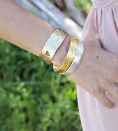 Birch Heart Brass Bracelet