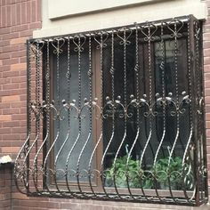 Here are some of the best 12 Safest and Elegant Window Grill Design 2020 for your windows which will add class to the house and your home will look attractive. Modern Window Design, Iron Window Grill, Window Grill Design Modern, House Window Design, Balcony Grill Design, Grill Door Design, Main Door Design, Modern Windows, Steel Doors And Windows
