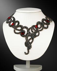 Zdenka Arko Jet Hematite Crystal Necklace NC11003-01 - Rhinestone Jewelry