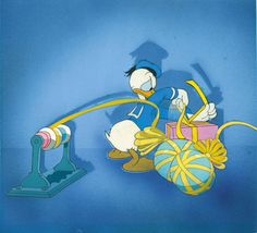Production Cel of Donald Duck from The Clock Watcher