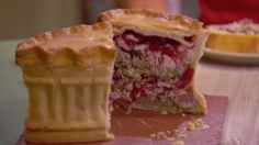 Boxing Day Pie  Contains: stuffing, cranberries, and turkey. Great for leftovers!