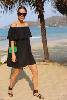 anine bing dress outfit sunglasses summer chanel