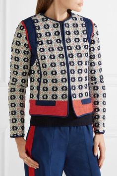 Tory Burch - Rainford Fil Coupé Jacquard Jacket - Navy - US