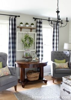 Springtime French Country Seating Area