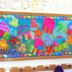 Under the Sea artwork made by my preschool class.
