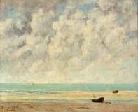 "Gustave Courbet ""The Calm Sea"" 1869"