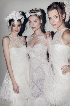 elie saab. the neckline on that middle dress is so lovely.
