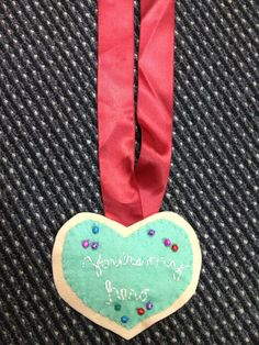 #Wreck it #Ralph #hero  heart cookie medal from Vanellope made out if felt