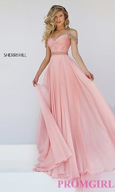 Cold+Shoulder+Floor+Length+Sherri+Hill+Prom+Dress+at+PromGirl.com