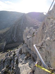 Vía ferrata de Cuevas de Cañart (Maestrazgo -Teruel-, Spain)