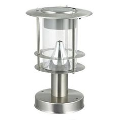 Other Lighting and Ceiling Fans 3201: Btr Germany 5302 Silver Solar Post Stainless Steel Led Light O S Bhfo -> BUY IT NOW ONLY: $30.99 on eBay!