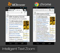 Have you experienced the Intelligent Text Zoom on UC Browser HD 3.0? What do you think? — with Dnyanesh Kharat. Photo: Have you experienced the Intelligent ...