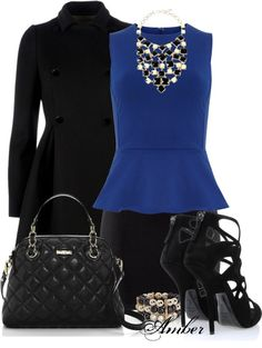 """""""Black & Blue"""" by stay-at-home-mom on Polyvore"""