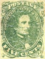 First Confederate stamp issued 1861