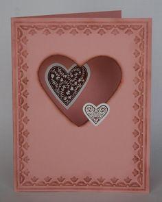 Peekaboo Valentine using Stampin' Up! Framelits