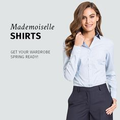 Exquisitely tailored dress shirts for Women. Choose between fabrics, collar style, sleeves, fit, cuffs and pockets. Tailored in just 15 days. Dress Shirts For Women, Suits For Women, Women Wear, Made To Measure Shirts, Collar Styles, Photos Of The Week, New Trends, Your Style, Shirt Dress