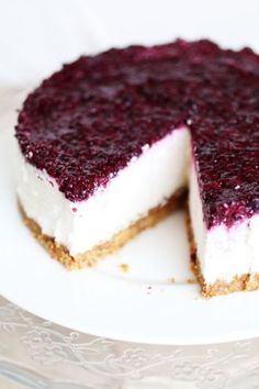 Cheesecake Senza Cottura e Senza Latticini | Dolce Senza Zucchero