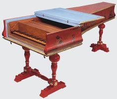 Cembalo col piano e forte Bartolomeo Cristofori 1726 (Leipzig museum)