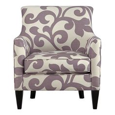 For a little burst of clean and bold pattern in the studio perhaps.  Crate and Barrel Exclusive  Clara Chair  $1,099.00