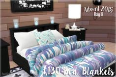1,130 Jonesi bed blanket recolours at SimBlob via Sims 4 Updates