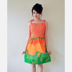 Horsin Around 70s Malia Dress design inspiration on Fab.