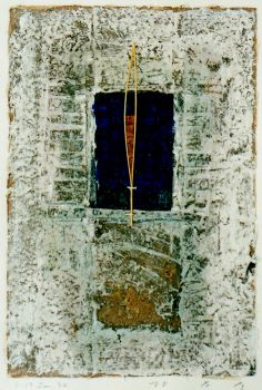 D-19.Jun.1994 43.5x30cm painting, collage on paper 林孝彦 HAYASHI Takahiko 1994