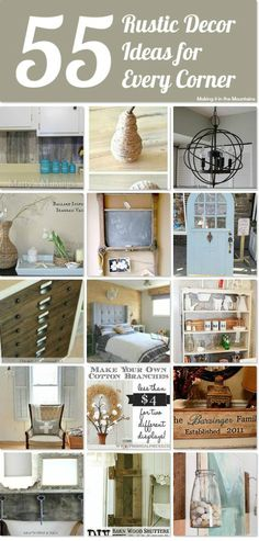 DIY #55 Rustic Farmhouse Home Decor Projects for Every Corner !
