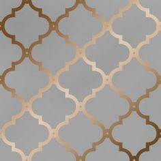 Morocco Trellis Wallpaper Grey Copper - Wallpaper from I Love Wallpaper UK Grey Copper Wallpaper, Grey And Gold Wallpaper, Metallic Wallpaper, Textured Wallpaper, Trellis Wallpaper, Cheap Wallpaper, Damask Wallpaper, Vinyl Wallpaper, Bedroom Wallpaper