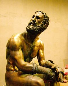 Inspired by bronze hellenistic art Boxer of Quirinal, Boxer at Rest, The Terme…