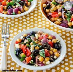Roasted Garbanzo & Vegetable Salad Recipe  For Recipe visit: www.facebook.com/theteadetox #theteadetox  #detox #veggies