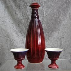 Cowan Pottery Decanter Set, Circa 1931