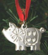 Scandinavian Christmas pig.....hangs on my tree each year.