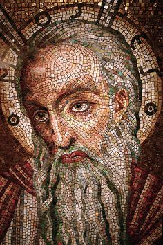 Moses mosaic on display at the Cathedral Basilica of Saint Louis
